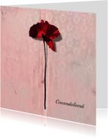 Condoleancekaarten - Condoleancekaart poppy Klaproos