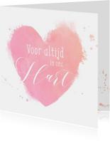 Condoleancekaart waterverf hart