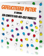 Verjaardagskaarten - Confetti doe het zelf pakket