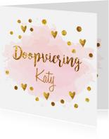 Doopkaarten - Confetti doopvieringkaart