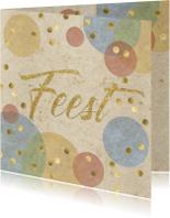 Uitnodigingen - confetti uitnodiging verjaardagsfeest