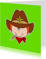 Kinderkaarten - Cowboy kinderkaart