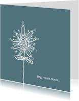 Rouwkaarten - Dag mooie bloem blauw