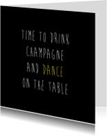Uitnodigingen - Dance on the table