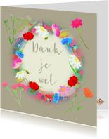 Bedankkaartjes - Dankjewel bloemen PA
