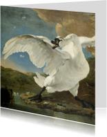 Kunstkaarten - De bedreigde zwaan Jan Asselijn