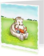 Kinderkaarten - De beer leest voor