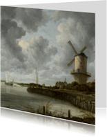 Kunstkaarten - De molen bij Wijk bij Duurstede