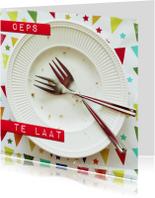 Verjaardagskaarten - De taart is op