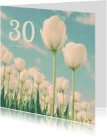 Jubileumkaarten - De twee tulpen