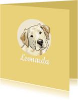 Dierenkaarten - Dieren - cirkel met labrador