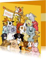 Dierenkaarten - Dieren honden, een heleboel!