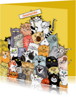 Dierenkaarten - Dieren-  katteneenheleboel