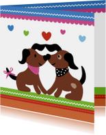 Kinderkaarten - Dieren-Verliefde Hondjes-HK
