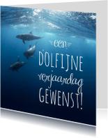 Dierenkaarten - Dierenkaart  dolfijn verjaardag