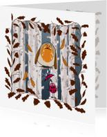 Dierenkaarten - Dierenkaart-droevig roodborstje