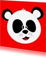 Kinderkaarten - Dierenkaart, een pandabeer!