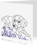 Dierenkaarten - Dierenkaart Grafische hond - EE