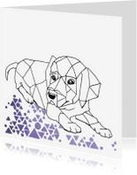 Dierenkaarten - Dierenkaart Grafische hond