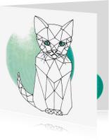 Dierenkaarten - Dierenkaart Grafische Kat - EE