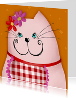 Dierenkaarten - Dierenkaart kat mama