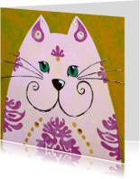 Dierenkaarten - Dierenkaart kat uit India