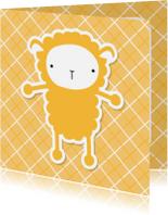 Dierenkaarten - Dierenkaart Lief Schaapje