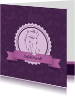 Dierenkaarten - Dierenkaart Paard in stal