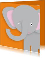 Dierenkaarten - Dierenkaart Vrolijke Olifant