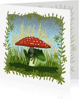 Dierenkaarten - Dierenkaarten-kikker in de regen