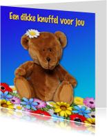 Kinderkaarten - Dikke knuffel, met teddybeer