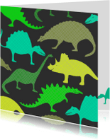 Kinderfeestjes - Dinosauriërs groen