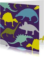 Kinderfeestjes - Dinosauriërs paars