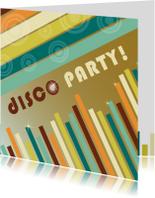 Uitnodigingen - Disco party uitnodiging