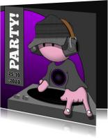 Uitnodigingen - DJ examenparty zelf invullen