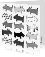 Dierenkaarten - Doggie zwart-wit