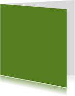 Blanco kaarten - Donker groen dubbel vierkant