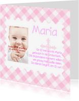 Doopkaarten - Doopkaart meisje met foto