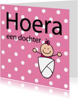 Felicitatiekaarten - Dotjes - dochter