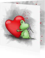 Valentijnskaarten - Draakje Poef - Valentijn