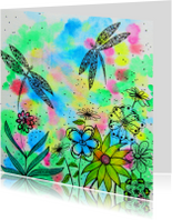 Kunstkaarten - Dragonflies