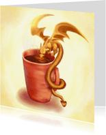 Kunstkaarten - Drinkend Draakje