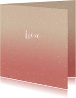 Geboortekaartjes - Een hip geboortekaartje voor een meisje met roze fading