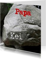 Vaderdag kaarten - een kei voor een Kei