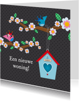 Felicitatiekaarten - Een nieuwe woning antraciet