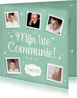 Communiekaarten - Eerste communie fotokaart collage