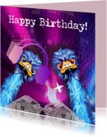 Verjaardagskaarten - Emu roze