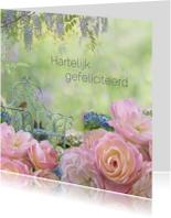 Verjaardagskaarten - Fantasie met rozen