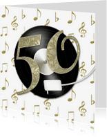 Jubileumkaarten - Feest 50 jaar LP goud