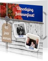 Jubileumkaarten - Feest bloemen zelf aanpassen i